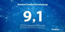 Ausgezeichnet Booking.com Award