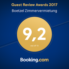 Ausgezeichnet 2017 Guest Review Awards Booking.com